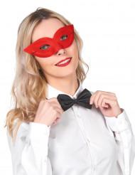 Röd maskeradmask för vuxen