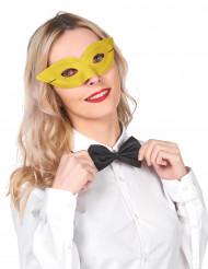 Gul maskeradmask för vuxna