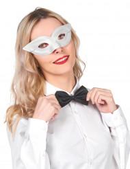 Vit maskeradmask för vuxna
