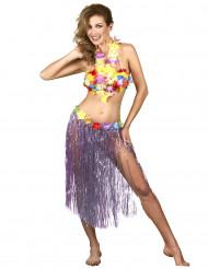 Lång lila hawajikjol för vuxna