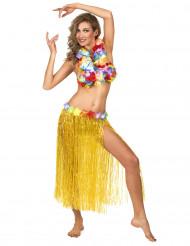 Lång gul söderhavsinspirerad kjol för vuxna