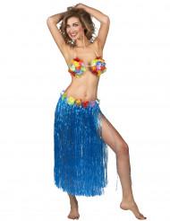 Lång blå söderhavsinspirerad kjol för vuxna