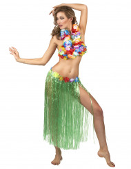 Lång grön söderhavsinspirerad kjol för vuxna