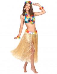 Lång naturlig söderhavsinspirerad kjol för vuxna