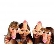 4 humoristiska snoppmasker