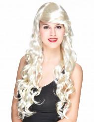 Peruk glamorös med blonda lockar