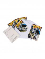 6 Inbjudningskort + kuvert Batman ™