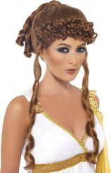 Rödbrun peruk för en grekisk gudinna