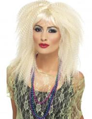 Krusig blond peruk