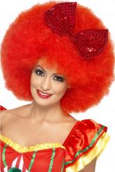 röd afro Clownperuk vuxen