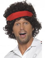 Tennisspelarens bruna peruk