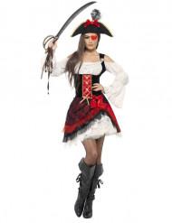 Glamorös pirat-utklädnad för vuxen
