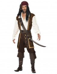 Brun piratdräkt vuxen