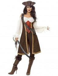 Brun pirat-utklädnad vuxen