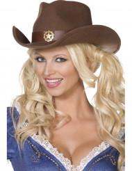 Cowboyhatt sheriff vuxen