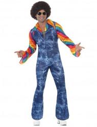 60-tals overall med jeanstryck - Maskeradkläder för vuxna