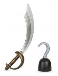 Kit med piratsvärd och krok