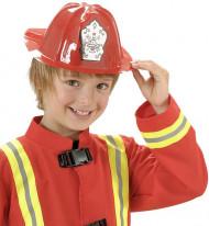 Röd brandmanshjälm för barn