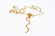 Guldigt Halsband med orm