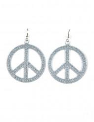 Silvriga hippieörhängen