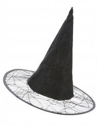 svart Häxhatt med spindelnät vuxen Halloween