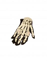 Lysande skeletthandskar för Halloween