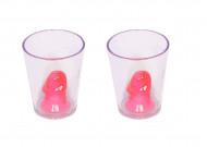 2 shotglas med lem