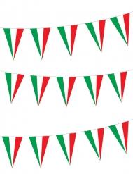 Girlang med italienska flaggvimplar 5 m