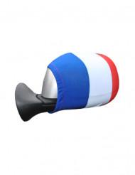 Överdrag i frankrikes färger för spegeln till bilen