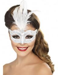 Vit vacker mask