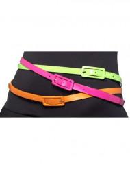 3 Bälten i neonfärg - Vuxenstorlek