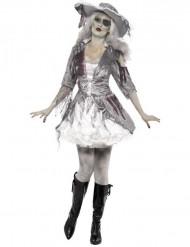 Maskeraddräkt spökpirat dam Halloween