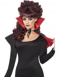 Cape i svart och rött till Halloween!