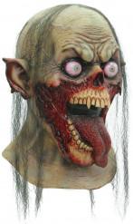 Zombiemask med öppen mun för vuxna till Halloween