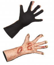 Zombiehandskar - Halloweentillbehör för vuxna