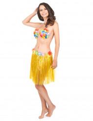 Kort gul söderhavsinspirerad kjol för vuxna