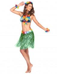 Kort grön kjol med fläkt från Söderhavet för vuxna