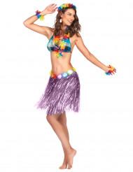 Kort lila söderhavsinspirerad kjol för vuxna