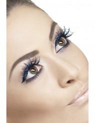 Lösögonfransar för vuxna med blått spindelnät