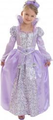 Maskeraddräkt lila drottning Corolle™ barn
