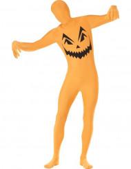Hudnära pumpadräkt för Halloween