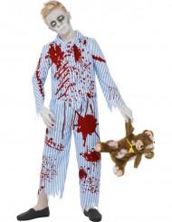 Zombiedräkt i pyjamas Halloween pojkar