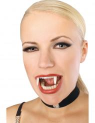 Självlysande vampyrtänder - Tillbehör till Halloween