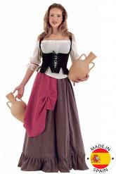 Maskeraddräkt medeltidsuppasserska