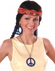 Peace-örhängen och -halsband