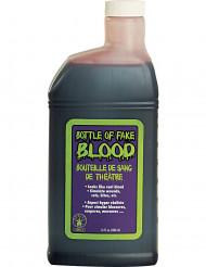 En flaska fuskblod - Halloweensminkning