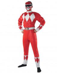 Maskeraddräkt Power Rangers™ röd vuxen