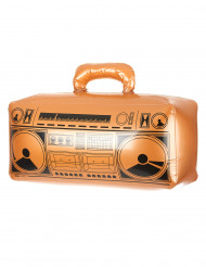 Uppblåsbar guldfärgad radio