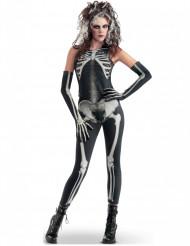Skelett - Halloweenkostym för vuxna
