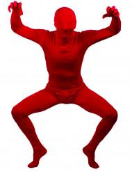 Second Skin röd vuxendräkt
